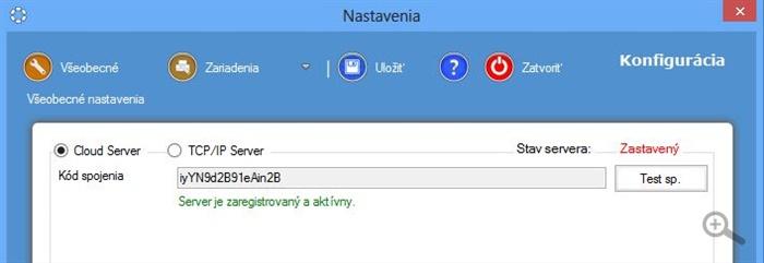 Komunikácia cez Cloud Server v aplikácii iKelp POS Manažér server