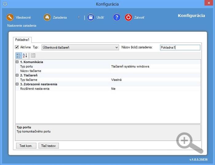 Nastavení Účtenkové tiskárny v iKelp POS Manažér Server