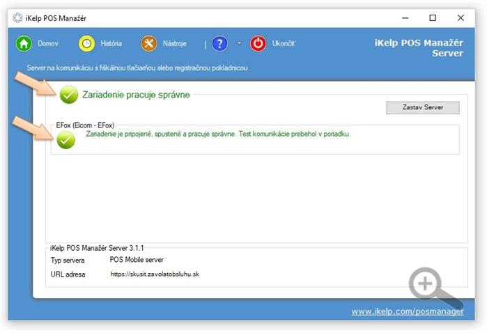 Automatická detekcia zariadenia v aplikácii POS Manažér